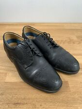 Marks & Spencer Airflex Brogues Mens Leather Shoes / Black Size 9 Uk / M&S