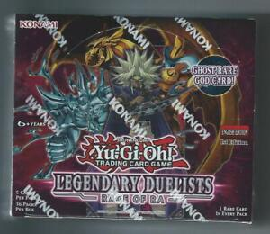 YU-GI-OH!  LEGENDARY DUELISTS: RAGE OF RA  - 1st  - Booster Box - Sealed New!