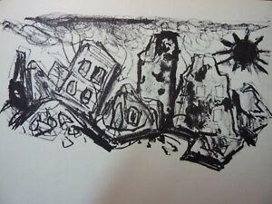"""OTTO DIX - Original Lithographie 1960 """"Die Leiden der Städte"""
