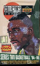 1994/95 UPPER DECK COLLECTOR'S CHOICE SERIES 2 SEALED RETAIL BASKETBALL BOX