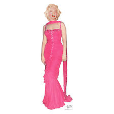 MARILYN MONROE IN PINK DRESS Gown Lifesize CARDBOARD CUTOUT Standup Standee
