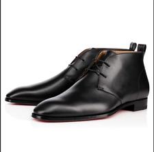 9878bbe2fcbac Men's Christian Louboutin Black Milan Flat Calf Brosse Lace-Up Shoes UK 8  £795