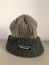 Vintage Supreme Wool Beanie with Bill '90s Rare Authentic