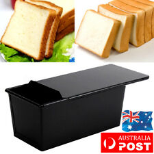 Nonstick Rectangle Bread Loaf Pastry Cake Tin Box Baking Pan Bakeware Kitchen AU