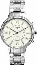 Fossil Women's Virginia Silver Stainless Steel Hybrid SmartWatch 36mm FTW5009