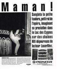 PUBLICITE ADVERTISING 064  1994  PIONEER  lecteur laserdisc