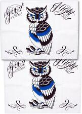 Tattoo Sourpuss Good Night Owl Pillow Cases Set Punk Bedding Rockabilly Pinup
