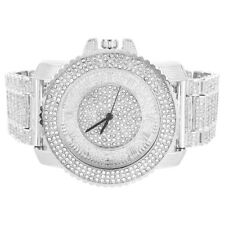 Techno Pave Watch Full Iced Out Hip Hop Simulated Diamond Rapper Roman Number