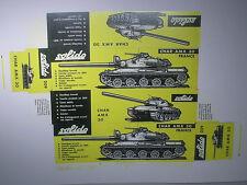 REPLIQUE  BOITE CHAR AMX 30  SOLIDO 1969