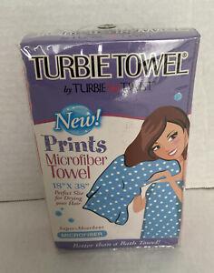 Turbie Twist Microfiber Hair Towel Cap Super Absorbent 18 X 38 Polka Dot Pink
