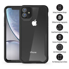For iPhone 11 Pro Max/ 11 Pro/11 Shockproof Rubber Bumper Transparent Case Cover