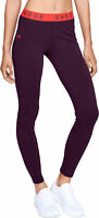 Under Armour Favourite Womens Training Tights Purple Lightweight Gym Workout