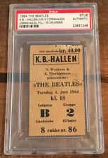 The Beatles Concert Ticket Stub | COPENHAGEN DENMARK 1964 | Jimmie Nicol | PSA