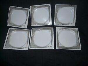 """Lot 6 assiettes plate 20,7 x 20,7 cm """"vaisselle SOLLEILLADE"""" pour camping"""