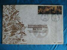 1976 Original Colorado Centennial Commemorative First Day Cover Posted Co & Pa