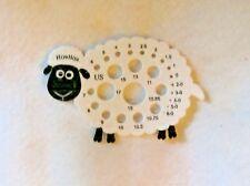 HIYA HIYA SHEEP KNITTING NEEDLE GAUGE - SHOWS US AND METRIC SIZES!  PERFECT!