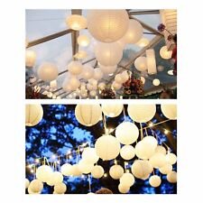 10pc White Round Paper Lantern Wedding Lamp Shade Grad Party Ceiling Decor 10""
