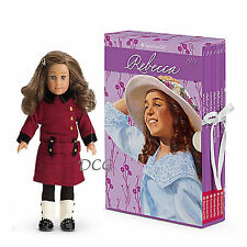 American Girl BOOK REBECCA BOXED SET & MINI DOLL Board Game 6 Paperback NEW