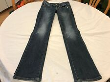 WOMEN'S AMERICAN EAGLE SLIM BOOT STRETCH JEANS 2 REGULAR DISTRESSED WASH