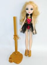 """Ever After High Apple White Mirror Beach 11"""" Doll Swimsuit & Stand Mattel 2014"""