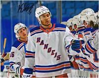 """K'Andre Miller New York Rangers Signed 8"""" x 10"""" 1st NHL Goal Celebration Photo"""
