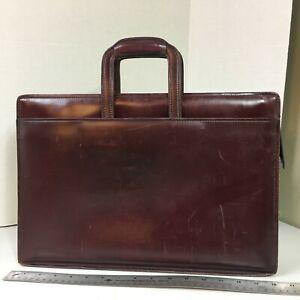 Vintage Hartmann Belting Leather Burgundy Briefcase Attache ~ 16x13