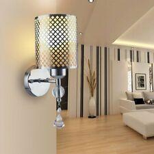 220v Modern Silver Chrome White Glass Indoor Wall Light Fixtures Bedside