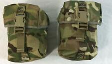 2 x  British army surplus MTP camo  large pouches molle G1 webbing
