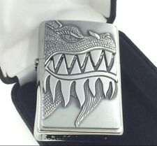 "Zippo ""Firebreathing Dragon"" Brushed Chrome Windproof Lighter #28969 New In Box"