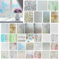 3D Static Cling Cover Frosted Window Glass Film Wall Sticker Privacy Home Decor