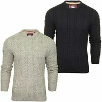 Superdry Mens 'Jacob Crew' Cable Knit Jumper