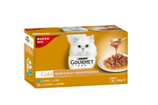 Purina Gourmet Gold Gravy Tuna & Salmon Packet  Cat Pet Food 4x85g