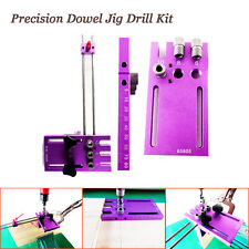 6mm 8mm 10mm Dowel Jig 3 in 1 Woodworking Dowelling Jig Hole Drilling Tool Kit