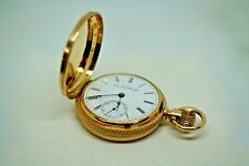 Antique (1891) Solid 14k gold, size 18s, grade 82 ELGIN pocket watch