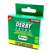 100 DERBY EXTRA DOUBLE EDGE SAFETY RAZOR BLADES SUPER STAINLESS MINI PACKAGING