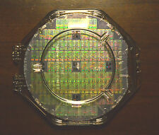"6"" Silicon wafer - Performance Semi R4000 MIPS CPU wafer with shipping case."