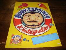BOBY LAPOINTE - PUBLICITE C'EST UN DOUBLE !!!!!!!!!!!!!