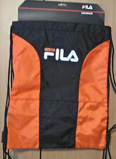 NWT FILA SP-1003 X4 Sackpack Sport Sack Black / ORANGE - $40