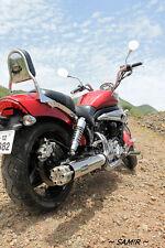 Custom motorcycle exhaust universal slip on muffler harley cafe rod machine gun