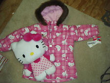 HELLO KITTY JACKET SIZE KIDS 4 & HELLO KITTY STUFFED BACKPACK TOTAL $100 RET