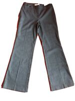 Ann Taylor LOFT Gray Julie Curvy With Stretch Pants Flare Leg Size 6 New Without