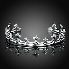 925 Sterling Silver Charm Round Bangle Women's Fashion Heart Bracelet Dlb177