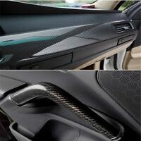 Gloss Black 5D Carbon Fiber 50 x 151cm Vinyl Car Phone Laptop Wrap Sticker Film