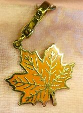 NWT 2008 JUICY COUTURE ORANGE MAPLE LEAF CHARM YJRU2269
