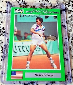 MICHAEL CHANG 1991 Netpro SP Rookie Card RC Tennis Legend $$$ HOF Grand Slam $$$