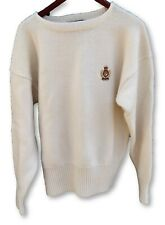 vintage 90's Polo Ralph Lauren Cookie Crest Patch Crewneck Wool Sweater Lo XL