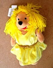 """THE  DISNEY STORE---SUN SIGN-- """"VIRGO POOH""""  IN A BLONDE WIG-- 8 INCH --NWT"""