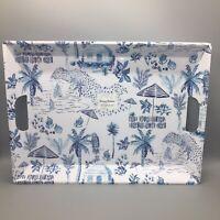 Tommy Bahama Melamine Handled Serving Drink Tray Tropical Palm Tree Hawaiian