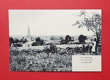 AK GROßTHIEMIG bei Ortrand Elsterwerda um 1910 Dorfansicht mit Kirche    ( 39402
