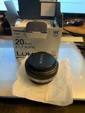 Panasonic Lumix G 20mm f/1.7 ASPH Excellent Condition